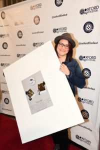 FAVORITES director Tracy Facelli with her film's poster. (Photo by Joey Brent)