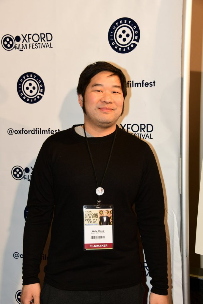 The most animated guy on the red carpet: Director Wally Chung (WHAT'S THAT IN THE GROUND?) (Photo by Joey Brent)